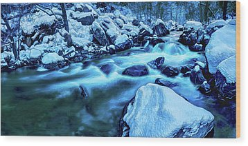 Wood Print featuring the photograph Oak Creek Snow by ABeautifulSky Photography