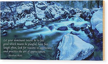 Wood Print featuring the photograph Oak Creek Snow - Appreciation by ABeautifulSky Photography