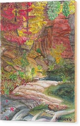 Oak Creek West Fork Wood Print