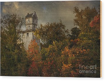 Oakhurst Water Tower Wood Print