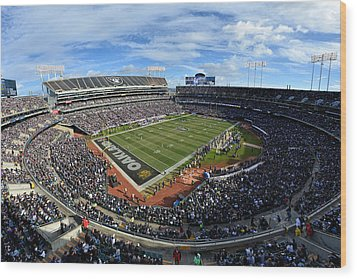 Oakland Raiders O.co Coliseum Wood Print