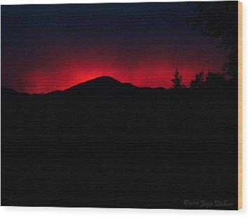 Oakrun Sunset 06 09 15 Wood Print