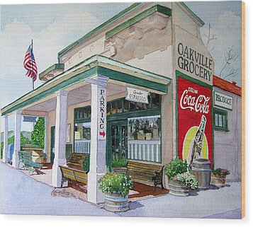 Oakville Grocery Wood Print by Gail Chandler