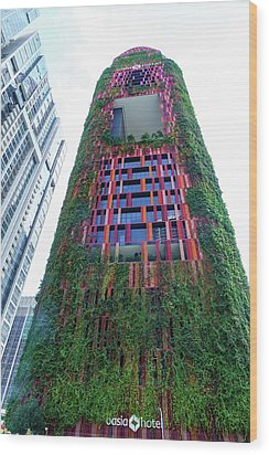 Oasia Hotel Downtown Singapore Wood Print