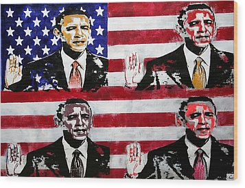 Obama 2 Wood Print by Jorge Berlato