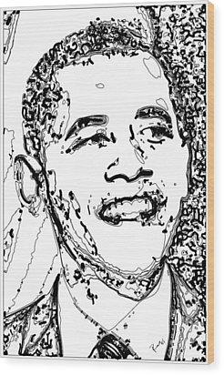 Wood Print featuring the digital art Obama by Rabi Khan
