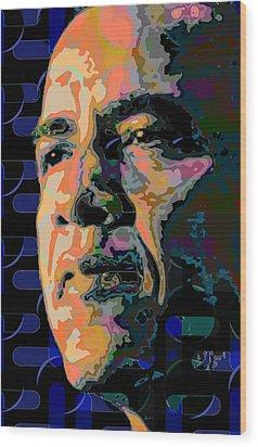 Obama Wood Print by Scott Davis
