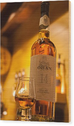 Oban Whisky Wood Print