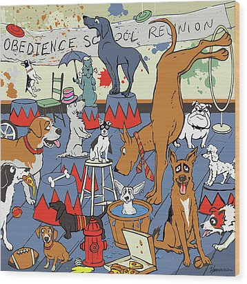 Obedience School Reunion Wood Print