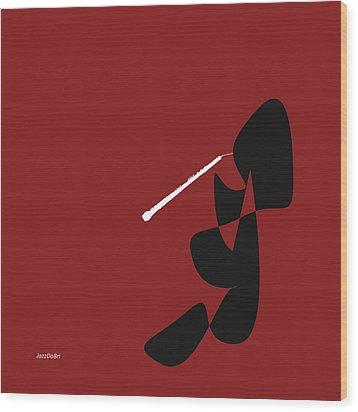 Obeo In Orange Red Wood Print by David Bridburg