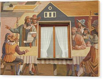 Wood Print featuring the photograph Oberammergau Frescoe by KG Thienemann