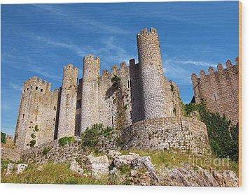 Obidos Castle Wood Print by Carlos Caetano