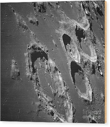 Oblique View Of The Lunar Surface Wood Print by Stocktrek Images