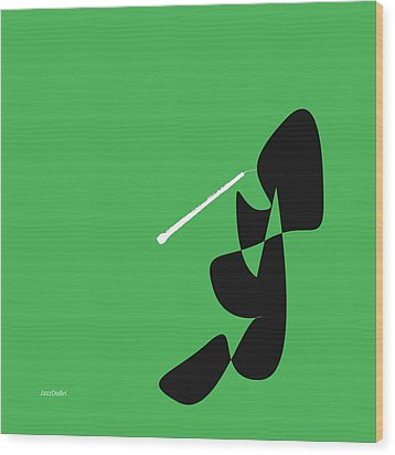 Oboe In Green Wood Print by David Bridburg