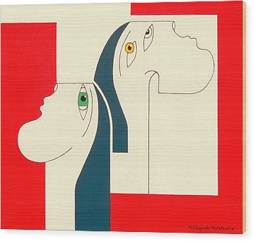 Obstinate Wood Print by Hildegarde Handsaeme