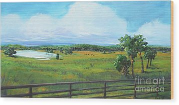 Ocala Downs Wood Print by Michele Hollister - for Nancy Asbell