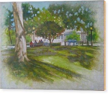Ocala Park Fl Wood Print by Janet McGrath