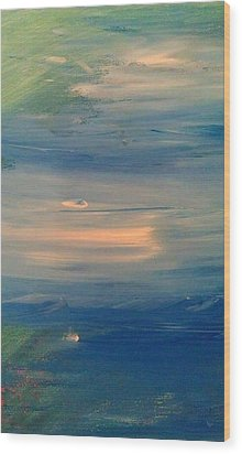 Ocean Abstract Wood Print by Brad Scott