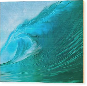 Ocean At Play Wood Print