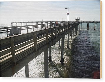 Wood Print featuring the photograph Ocean Beach Pier by Christopher Woods