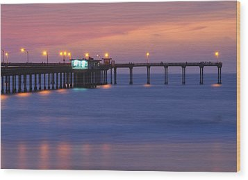 Ocean Beach Pier Wood Print by Kelly Wade