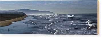 Wood Print featuring the photograph Ocean Beach San Francisco by Steve Siri