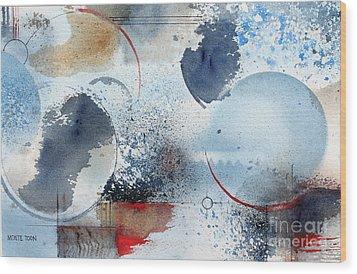 Ocean Blue Wood Print by Monte Toon