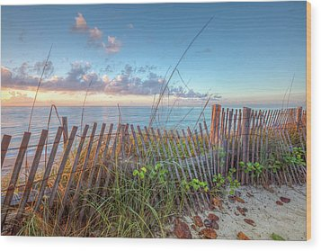 Wood Print featuring the photograph Ocean Blues by Debra and Dave Vanderlaan