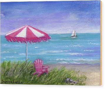 Ocean Breeze Wood Print by Sandra Estes