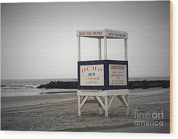Ocean City Beach  Wood Print by Denise Pohl