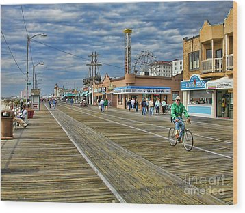 Ocean City Boardwalk Wood Print