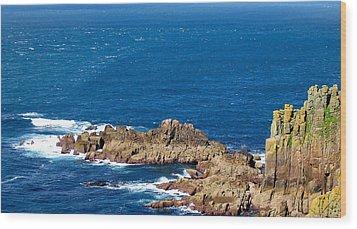 Ocean Cliffs Wood Print by Svetlana Sewell