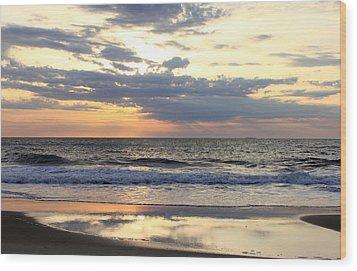 Ocean Dawn Wood Print by Mary Haber