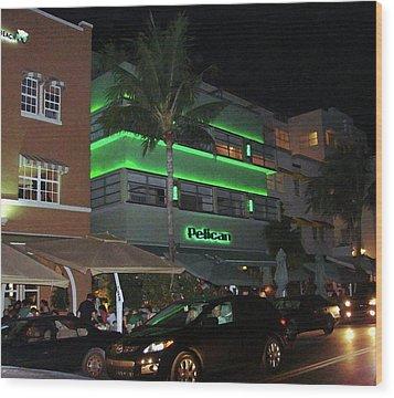 Ocean Drive Miami Beach Wood Print