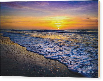 Ocean Drive Sunrise Wood Print