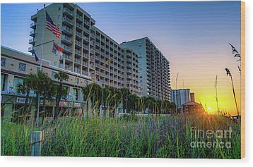 Ocean Drive Sunrise North Myrtle Beach Wood Print