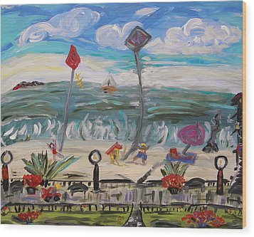 Ocean Grove Wood Print by Mary Carol Williams