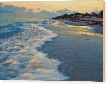 Ocean In Motion Wood Print