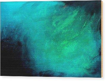 Ocean Wood Print by Izabela Bienko