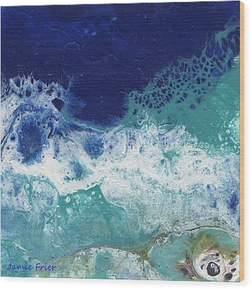 Wood Print featuring the painting Ocean by Jamie Frier