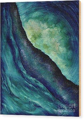 Ocean Meets Sky Wood Print
