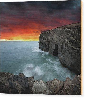 Ocean Of Light Wood Print by Ian David Soar