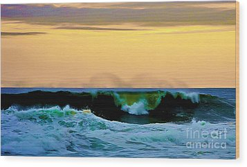 Ocean Power Wood Print