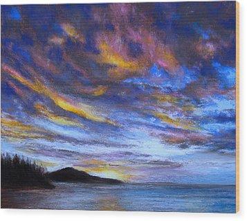 Ocean Sky Wood Print by Susan Jenkins