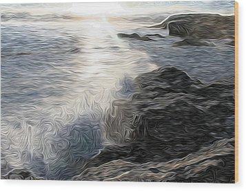 Ocean Splash Wood Print
