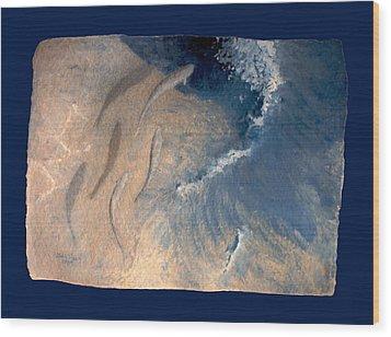 Ocean Wood Print by Steve Karol