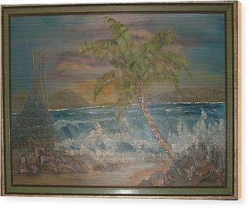 Ocean Storm Wood Print by Mikki Alhart