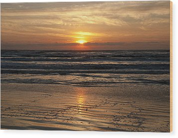 Ocean Sunrise Wood Print