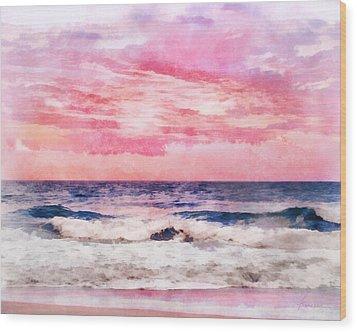Wood Print featuring the digital art Ocean Sunrise by Francesa Miller