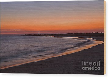 Ocean Sunset Wood Print by Robert Pilkington